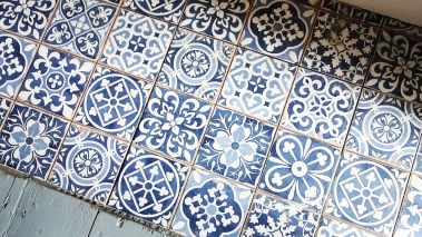 Kitchen hearth tiles